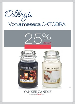 Yankee Candle Vonj meseca oktober